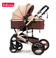 Wholesale Stroller can sit lying fold two way four wheel shock baby cart