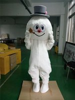 Wholesale Hottest Frosty Snowman Mascot Costumes Walking Adult Size Snow Man Cartoon Clothing Christmas Party Dress