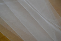 Wholesale 300 cm wide bridal veil tulle fabric wedding veil DIY tulle fabric meters wide American tulle shape tulle fabric