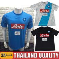 Wholesale 2016 Soccer Jersey Napoli Calcio Maglia Napoli SSC Shirt Gonzalo Higuain Jose Callejon Marek Hamsik Mertens Home Away Black Top Quality