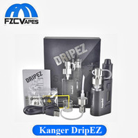 Auténtico Kanger DripEZ 80W Kit con Rebuidable RBA RDA E Cigarrillo Vape Tank Starter Kit Negro SS Color En stock