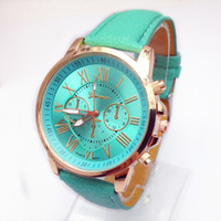 fashion womens not specified new geneva watches candy color leather pu quartz mens watch women watches - Color Watches