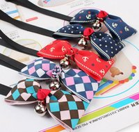 Wholesale Hot Sales Dog Neck Tie Dog Bow Tie Cat Tie Supplies Pet Headdress Collar with small bell