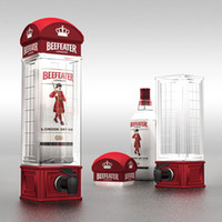 beer telephone - Beefeater The telephone booth wine drinking machine creative beer machine mini water dispenser best Christmas gift to boy friend