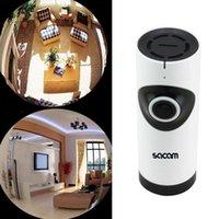 Wholesale SACAM CCTV Wireless Security Camera Baby Monitor IP Fish Eye Panoramic Smartphone Video Night Vision