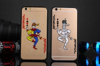 apple poker - Poker Boss White and Colorful Joker Case Cover For Apple iPhone s Plus Case Cartoon Series Transparent Soft Case For Phone