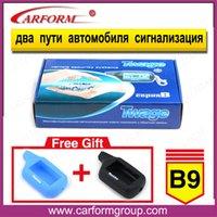 Sistema de alarma bidireccional Starlionr B9 del coche del envío Al por mayor-Libre del sistema de alarma del coche de Starlionr B9 de la versión rusa del LCD de Starlionr B9