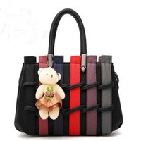 Wholesale Sweet New Style Fashion Aslant Cross Body Bag PU Material Joining Element for Female