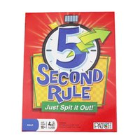 Wholesale Card Games Second Rule Just Spit it Out Family Board Game Toy Fun Play Party