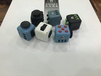 Wholesale Cube World Toys - 6 color 2017 new fidget cube Keychains the worlds first American original decompression anxiety toys Key ring C1670