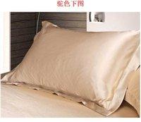 Wholesale Summer Silk Pillowcase silk satin pillowcase single color bedding outlet