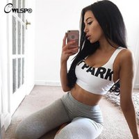 Wholesale Women Sexy Crop Top Beyonce Tank Top Ivy Park Letter Cropped Tops Halter Bodycon Bra Vest Haut Femme Mujer Cloth QA1224