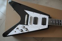Wholesale New arrive Electric guitar Black Flying V Style Custom Rock Metal God New