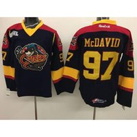 vêtements en nylon achat en gros de-ERIE OTTERS OHL Hockey Ligue # 97 Mcdavid OHL Maillots de Hockey Hockey sur glace Vêtements Hot Sale Nouveau Hockey Vêtements Point de Stitch, nombre