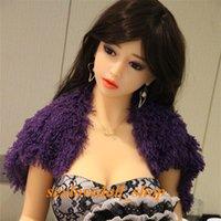 Nouveau 165cm bon marché en vrac silicone poupées sexuelles squelette grosse poitrine peau naturelle peau japonaise américaine tête cyberskin chatte orale