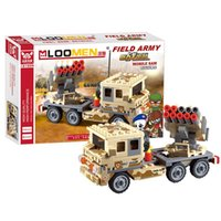 Wholesale New Arrival set Field Armies Air Defense Vehicle Small Particles Building Blocks Assemble Toy Educational Brinquedos