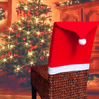 Wholesale 50pcs Hot fashion Christmas Decoration Supplies for dining table home party Christmas chair cover