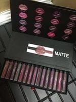 Wholesale Newest Cosmetics Matte Lipstick Lip Gloss Set Brand High Quality Lipgloss Set