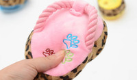 Interactive Blue Chirstmas Lowest price free shipping cartoon plush slippers sound toys pet plush word slippers dog bite BB ring slippers toys