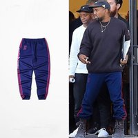 Wholesale High Quality Kanye West Season Blue Jogger Calabasas Pant Woman Man Elastic Waist For Dace Sport Running