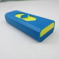 11 colorea los alumbradores del cigarrillo del USB de la carga con la venta al por menor Encendedores que fuman con los encendedores plásticos retardadores para los cigarrillos LTR012 de DHL
