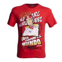 Wholesale 2016 NEW Marc Marquez Moto GP T Shirt Motorcycle Sports Racing Casual T Shirts Short Sleeve Casual Red Tees