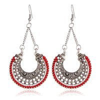 Wholesale Fashion Bridesmaid Exaggerated Earring Contracted Women Bohemian Ancient Hoard U Shape Ear Rings National Wind Patterns Sexy Earrings