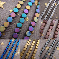 Wholesale Good Quality mm Multicolor Matte Hematite Stone Cube Loose Beads For DIY Jewelry Making
