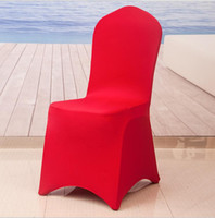 Wholesale Lycra Spandex Chair Cover Flat Front Stretch Spandex Lycra Chair Cover For Hotel Banquet Wedding festival Decoration covers