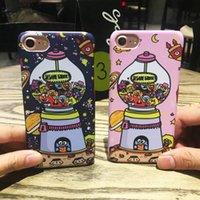 Cute Cartoon Cell Phone étuis pour iphone 7 6S 6 Lovely Designer Dirt Resistant Mobile Phone Covers