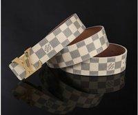 Wholesale New designer l v buckle belt men fashion mens belts luxury high quality belts for men genuine leather men belts