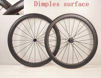 Wholesale 2016 NEW T1000 UD C mm Dimples golf surface carbon road bike wheels racing bicycle rim wheelsset U mm Width Basalt brake