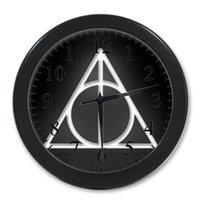 Wholesale Hot Movie Harry Potter Deathly_Hallows Symbol Background Wall Clock Cool Novelty Item