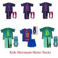 barcelona away shirt - 2016 kids Barcelona Soccer Jersey kits youth Home Away MESSI ARDA A INIESTA SUAREZ SERGIO PIQUE I RAKITIC Football shirt socks