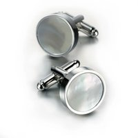 Wholesale Jeremy shell cufflinks cuff nailed French men and women shirt cuffs round cufflinks shirts dedicated buttons