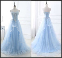Wholesale Cheap Prom Dresses Long Sweetheart Lace up Organza Lace Special Occasion Dresses A Line Evening Prom Dresses