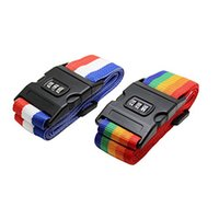 Wholesale 2 Pack Assorted Luggage Security Strap Suitcase Packing Belts with Password Lock Clip