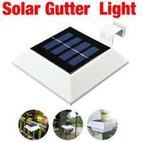 Wholesale New LED Solar Powered Square Fence Gutter Light Outdoor Garden Wall Lobby Pathway Lamp Solar Panel Home Decor pieces