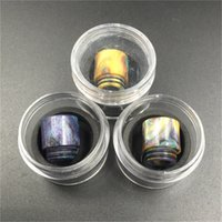 Wholesale Hottest Epoxy Resin drip tip Colorful Resin Wide Bore drip tips Mouthpiece for TFV8 Atomizer Tank Vaporizer with Single Retail Package