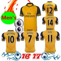 Wholesale Thai version of the quality of Premier League fan version of the men s shirt ALEXIS WALCOTT WILSHERE away yellow jersey