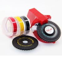 Wholesale 1x Tape x mm self adhesive tape x uppercase turntable x lowercase letters turntable DIY label maker marker embosser