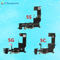 Wholesale New Original For iPhone C Charging Flex Cable for iphone S Headphone Audio Jack USB Port Dock Connector Flex Cable Black White