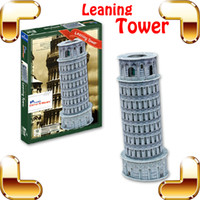 Wholesale New DIY Gift Leaning Tower of Pisa D Puzzle Tower Puzzle Model Construction Easy Build Puzzle Learning IQ Game to Kids