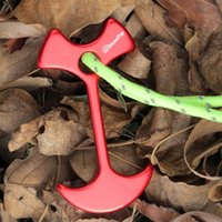 anchor set tool - set Tent Peg Path Deck Camp Wind Rope Anchor Chains Linked Herringbone Nails Camping Hiking Travel Kits Deck Floor Nails