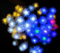 ac ip - Christmas Ball Top LED Strings m leds Solar Holiday party Club Outdoor LED Decoration Garden Light IP V LED light TT2018035