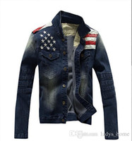 asian style clothing for men - 2016 New USA Design Mens Jeans Jackets American Army Style Man s Jeans Clothing Denim Jacket for Men Plus Asian Size XXXL