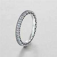 al por mayor anillo pulsera de la joyería-Anillos del corazón del amor para las mujeres Los ajustes de la venta de la plata esterlina S925 para la pulsera del estilo de pandora y la joyería de los encantos para las mujeres liberan el envío Rip105H9