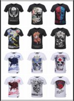Wholesale Philipplein Brand Men d Print T Shirts Cotton Short Sleeve T Shirt Men Skulls PP T Shirt Casual Homme Hip Hop Tshirt Camisetas Kpop