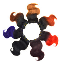 Wholesale Black Friday special offer Hairstyle inch Top Brazilian Ombre Hair Weaves Virgin Hair Extensions Red Hair J g Full Head