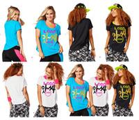 Wholesale S M L woman T shirt tops Joy Tulip Top Yoga dance tops black blue woman tshirt